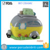 Cute Car Ceramic Camper Cookie Jar