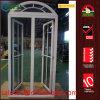 PVC Home Replacement Double Casement Window with Top Arch