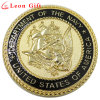 Customzied 3D Gold Metal Collectible Us Navy Replica Coin