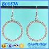 Fashion Crystal Metal Hoop Earrings
