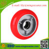 Crown Red PU Cast Iron Korean Type Caster Wheel