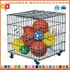 Steel Locking Ball Storage Cart Container Wire Mesh Cage (Zhra20)