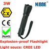 Portable, Zoomable, Water & Shock Resistant, Atex Explosion Proof Flashlight 3W