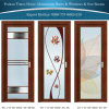 Wooden Color Aluminum/Aluminium Interior Bathroom/Casement Door