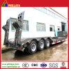 Concaved Lowbed Truck Semi Trailer 50t Excavator Transportation Low Loader