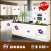 Flower Glossy Kitchen Furniture From High Glossy MDF (ZHUV factory)