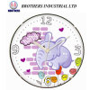 Plastic Shell Cartoon Wall Clock for Children Room Use 1002A3