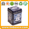 Square Metal Tin Tea Caddy for Food Tin Box Packaging