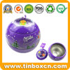 Christmas Ball Tin with String for Metal Gift Box Packaging