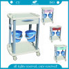 Two Dust Basket One Drawer ABS Cinical Trolley (AG-CT001B3)