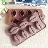 Rubber Coffee Beans Mold 7 Coffee Beans with 21.5*10.5*2.5cm