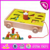 2015 Blocks Trolly Wooden Educational Toy for Kids, Wooden Building Blocks Sorter Trolly Toy, Pull Wooden Block Trolly Toy W13c021