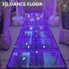 Mirror Toughed Glass DMX Professional Stage Lights up Portable LED 3D Dance Floor