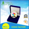 Custom Zinc Alloy/ Iron Stamped Gift Gold Game Coin with Color Infilled Logo