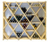 Wooden High Reveal Diamond Cube Combo Wine Cellar Rack Kit