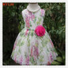 Removable Flower Embroidery Floral Cotton Dress