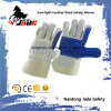 Anti-Scratch Blue Industrial Hand Safety Cowhide Leather Work Glove