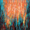 Abstract Oil Painting with Heavy Texture