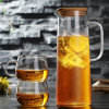 Export America Beautiful Glass Tea Pitcher Set Glass Drink Water Jug Teapot