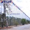 Tapered 15m Manual Drive Aluminum Flag Pole for Stadium/Square/Museum/Exhibition/Ceremonial