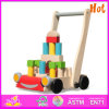 2014 New and Popuar Baby Walker, Wooden Toys Pull Cart / Walker for Baby, Hot Sale Wooden Baby Walker (W13C015)