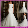 2015 New Design Real Organza off Shoulder Mermaid Wedding Dress (ASE005)