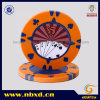 15g 2-Color Clay Poker Chip with Sticker (SY-F08)