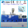 PVC Plastic Conical Twin Screw Plastic Pipe Extrusion Machine