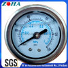 Back Connection Oil Filled Shock Resistance Pressure Gauge with Flange