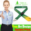 Flat Polyester Silkscreen Printing Lanyard with ID Card Holder