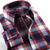Men's Fashion Brand Checked Flannel Dress Shirt
