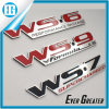 Custom Red Chrome Metal Car Names and Logo Badge