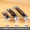 32mm Pitch Tea Colour Crystal Glass Kitchen Cupboard Drawer Handles