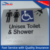 Silver Matte Finish Surface Handling Toilet Signs with Braille