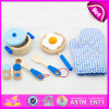 Best Gift for Preschool 9 PCS Wooden Food Play Toys Kid Cooking Play Set Toys W10b128