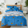Winde Home Printed 4 PCS Microfiber Polyester Bedsheet Bedding Set