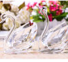 Wholesale Cheap Beautiful Design Crystal Swan Model for Wedding Gifts, Business Gift with Various Color