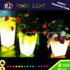 Outdoor Colorful Plastic LED Furniture Square Flowerpot