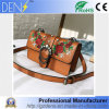 Promotions Embroidery Flowers Pearl Lock Messenger Shoulder Lady Small Bag PU Women Handbag