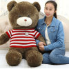 Wholesale Cotton Stuffed Animals Plush Toy Brown Bear with Sweater