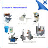 Pre-Curling and Flanging Machine for Paint Can