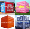 Custom Made Inflatable Cube Air Balloon on The Ground