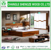 European Style Wood Grain Melamine MDF/Particleboard Bed Set