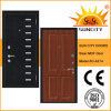 Russia Style Veneer Wood Security Steel Armor MDF Door (SC-A214)