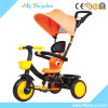 Umbrella Canopy Baby Trike with Push Bar /Portable Children Tricycle for Quick Outing