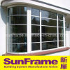 White Aluminium Curving Window Wall System