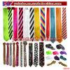 Neckwear Polyester Tie Plain Stripe Satin Tie Necktie Party Decoration (B8040)