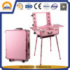 Aluminum Cosmetic Trolley Makeup Case with Legs (HB-3503)