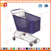 Good Quality Plastic Supermarket Shopping Trolley (ZHt271)