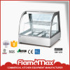 Hw-838 Food Warmer/ Stainless Steel Curved Glass Heater with 2-Pans